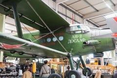 Antonov verde AN-2 Sinsheim fotografía de archivo