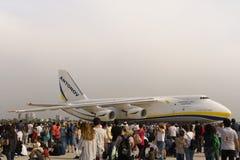 Antonow-Frachtflugzeuge in Euroasia-Flugschauereignis 2018 in Antalya, die Türkei stockfotografie