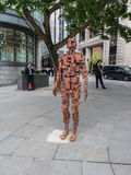 Antony Gormley RESOLUTION sculpture London Royalty Free Stock Image