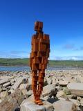 Antony Gormley rzeźby Kimmeridge zatoka, Dorset obrazy stock