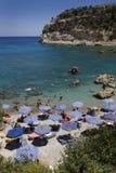 Antony Quinn beach, Rhodes island, Greece Stock Photography