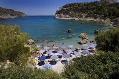 Antony Quinn beach, Rhodes island, Greece Royalty Free Stock Photo