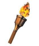 Antorcha ardiente Imagen de archivo libre de regalías