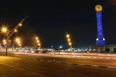Antorcha de Doha Foto de archivo libre de regalías