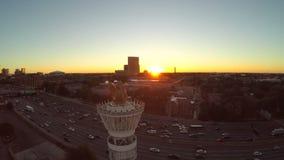 Antorcha de la antena de Atlanta almacen de video