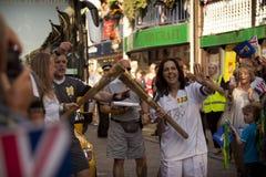 Antorcha olímpica 2012 Foto de archivo libre de regalías