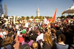 Antorcha olímpica Protests_SF Fotos de archivo