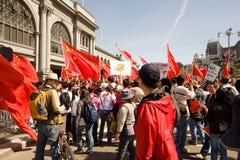 Antorcha olímpica Protests_SF Foto de archivo