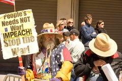 Antorcha olímpica Protests_SF Imágenes de archivo libres de regalías