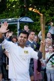 Antorcha olímpica Londres 2012 Foto de archivo libre de regalías