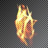 Antorcha translúcida transparente de la llama del fuego Foto de archivo