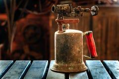 Antorcha vieja del keroseno Foto de archivo