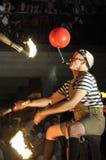 Antorchas del fuego en el festival más buskerfest. Foto de archivo