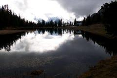 Antorno湖 库存照片