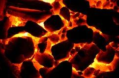 Antracite di fuoco senza fiamma del carbone Immagini Stock