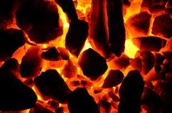 Antracite di fuoco senza fiamma del carbone Fotografia Stock Libera da Diritti