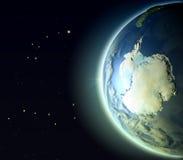 Antractic από την τροχιά Στοκ Εικόνα