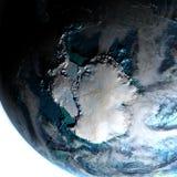 Antractic από το διάστημα το πρωί Στοκ φωτογραφία με δικαίωμα ελεύθερης χρήσης