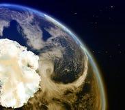 Antractic από το διάστημα Στοκ φωτογραφία με δικαίωμα ελεύθερης χρήσης