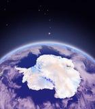 Antractic από το διάστημα Στοκ εικόνες με δικαίωμα ελεύθερης χρήσης