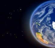 Antractic από το διάστημα Στοκ φωτογραφίες με δικαίωμα ελεύθερης χρήσης