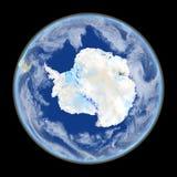 Antractic από το διάστημα Στοκ Εικόνα