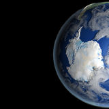 Antractic από το διάστημα Στοκ εικόνα με δικαίωμα ελεύθερης χρήσης
