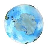 Antractic στη γη που απομονώνεται στο λευκό Στοκ Φωτογραφίες