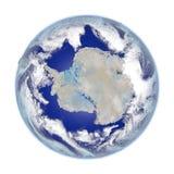 Antractic στη γη που απομονώνεται στο λευκό Στοκ φωτογραφία με δικαίωμα ελεύθερης χρήσης
