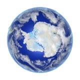 Antractic στη γη που απομονώνεται στο λευκό Στοκ εικόνα με δικαίωμα ελεύθερης χρήσης