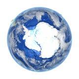 Antractic στη γη που απομονώνεται στο λευκό Στοκ Εικόνες