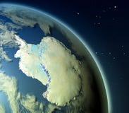 Antractic d'orbite Illustration Stock