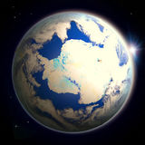 Antractic de l'espace au crépuscule Photos libres de droits