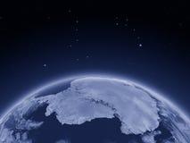 Antractic de l'espace la nuit Photos stock