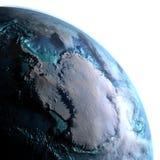 Antractic de l'espace pendant le matin Illustration de Vecteur