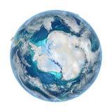 Antractic sur la terre détaillée de planète Images stock
