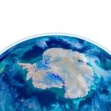 Antractic sur le globe physique Illustration de Vecteur