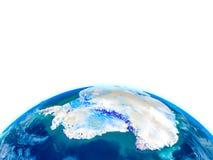 Antractic sur le globe physique Image stock
