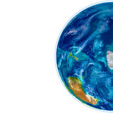 Antractic sur le globe physique Image libre de droits