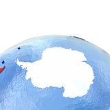 Antractic sur le globe politique avec des drapeaux Illustration Libre de Droits