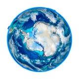Antractic sur le modèle détaillé de la terre Illustration de Vecteur