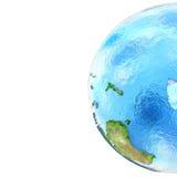 Antractic sur le modèle de la terre Photos libres de droits