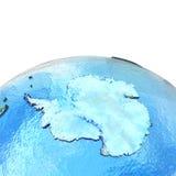 Antractic sur le modèle de la terre Illustration de Vecteur