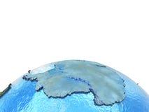 Antractic sur le modèle de la terre Illustration Libre de Droits