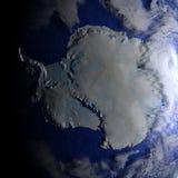 Antractic sur le modèle réaliste de la terre Image stock