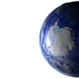 Antractic sur le modèle réaliste de la terre Images stock
