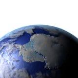 Antractic sur le modèle réaliste de la terre Photographie stock libre de droits