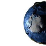 Antractic sur terre avec les montagnes exagérées Photo stock