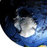 Antractic sur terre avec les montagnes exagérées Illustration Libre de Droits