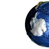 Antractic sur terre avec les montagnes exagérées Photographie stock libre de droits